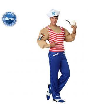 Fato Marinheiro Musculoso Popeye Adulto Disfarces A Casa do Carnaval.pt