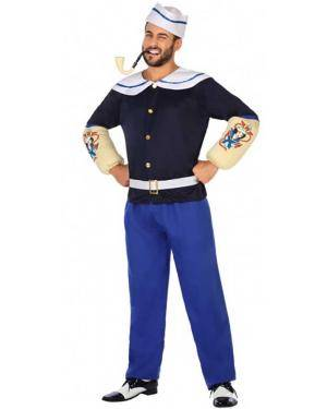 Fato Marinheiro Popeye Adulto para Carnaval
