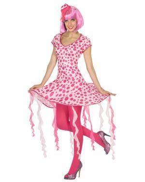 Fato Medusa Rosa Mulher Adulto M/L Disfarces A Casa do Carnaval.pt