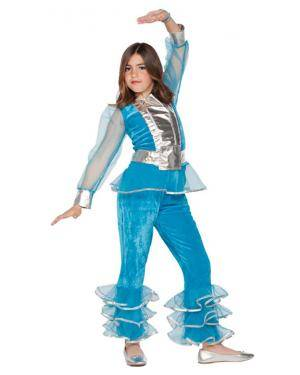 Fato Menina Disco Azul Disfarces A Casa do Carnaval.pt