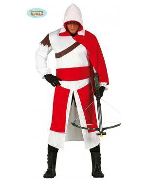 Fato Mercenario Templario para adulto, Loja de Fatos Carnaval, Disfarces, Artigos para Festas, Acessórios de Carnaval, Mascaras, Perucas 365 acasadocarnaval.pt