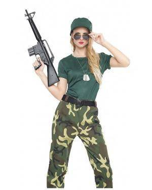 Fato Militar Camuflada T. M/L Disfarces A Casa do Carnaval.pt