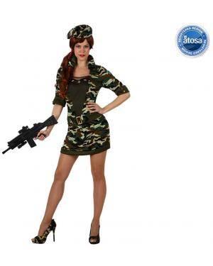 Fato Militar Camuflagem Mulher Disfarces A Casa do Carnaval.pt