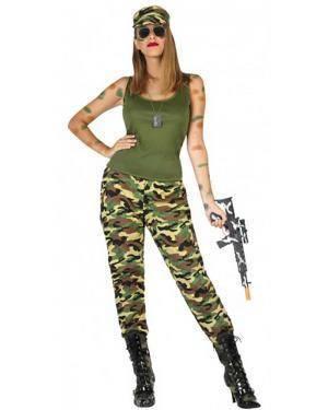 Fato Militar Camuflagem Mulher para Carnaval