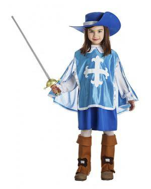 Fato Mosqueteira Azul 3-4 Anos Disfarces A Casa do Carnaval.pt