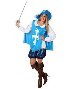 Fato Mosqueteira Azul Adulto Disfarces A Casa do Carnaval.pt