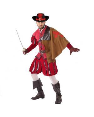 Fato Mosqueteiro Adulto Vermelho para Carnaval