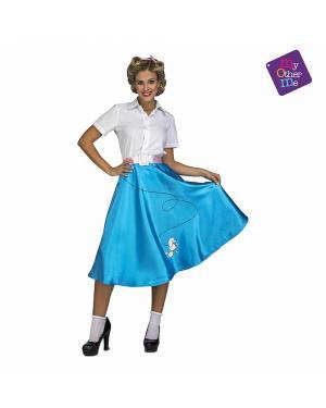 Fato Mulher anos 50 Azul M/L para Carnaval