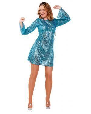 Fato Mulher Boogie Azul Adulto Disfarces A Casa do Carnaval.pt