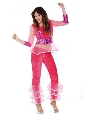 Fato Mulher Disco Rosa Adulto, Loja de Fatos Carnaval, Disfarces, Artigos para Festas, Acessórios de Carnaval, Mascaras, Perucas 819 acasadocarnaval.pt