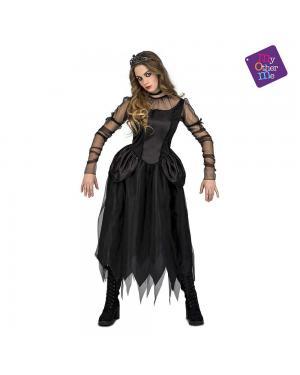 Fato Mulher Gótica M/L para Carnaval