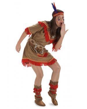 Fato Mulher Indiana T. M/L Disfarces A Casa do Carnaval.pt