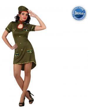 Fato Mulher Militar Soldado Disfarces A Casa do Carnaval.pt
