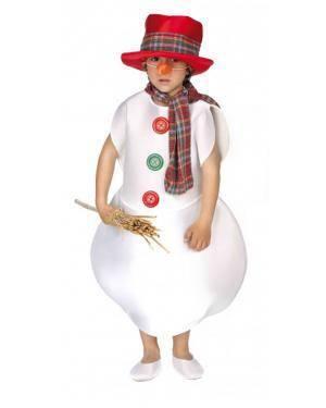 Fato Muñeco Nieve Infantil Disfarces A Casa do Carnaval.pt