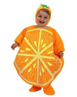 Fato Naranja Bebé T-0-6 Meses Disfarces A Casa do Carnaval.pt