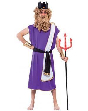 Fato Neptuno Deus dos Mares Adulto Disfarces A Casa do Carnaval.pt