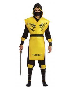 Fato Ninja Amarelo T. M/L Disfarces A Casa do Carnaval.pt