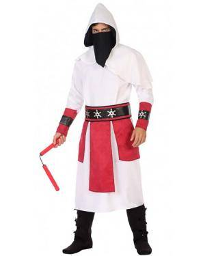 Fato Ninja Branco Adulto para Carnaval