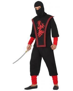 Fato Ninja Dragão Adulto para Carnaval