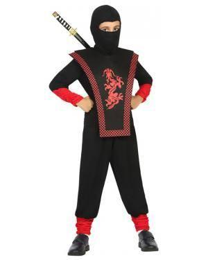 Fato Ninja Dragão Menino de 5-6 anos Disfarces A Casa do Carnaval.pt