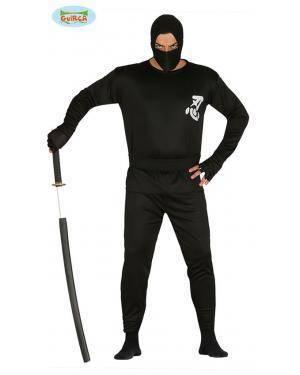 Fato ninja para hombre Disfarces A Casa do Carnaval.pt