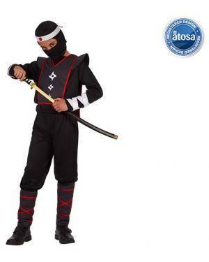 Fato Ninja Preto Menino para Carnaval