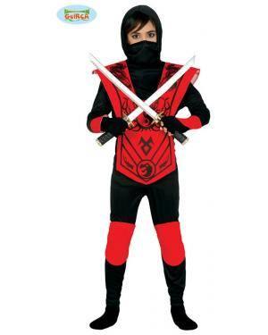 Fato Ninja Vermelho da Morte para Menino, Loja de Fatos Carnaval, Disfarces, Artigos para Festas, Acessórios de Carnaval, Mascaras, Perucas 838 acasadocarnaval.pt