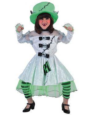 Fato Noiva de Frankenstein Menina Disfarces A Casa do Carnaval.pt
