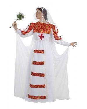 Fato de Noiva Medieval Adulto M/L para Carnaval | A Casa do Carnaval.pt