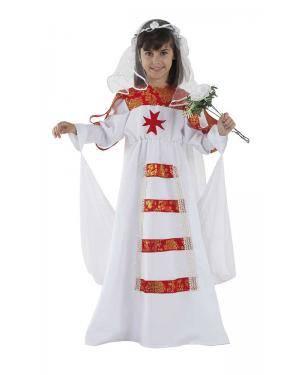 Fato de Noiva Medieval Infantil para Carnaval | A Casa do Carnaval.pt