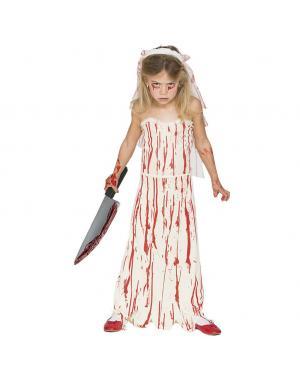 Fato Noiva Sangrenta Menina para Carnaval