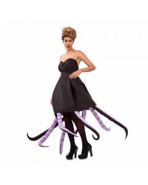 Fato Octopus Mulher Preta M/L para Carnaval