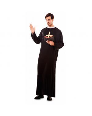 Fato Padre Sacerdote Adulto para Carnaval