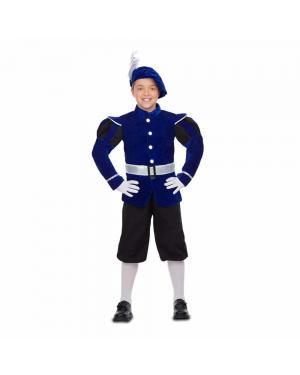 Fato Pajem Azul Criança para Carnaval