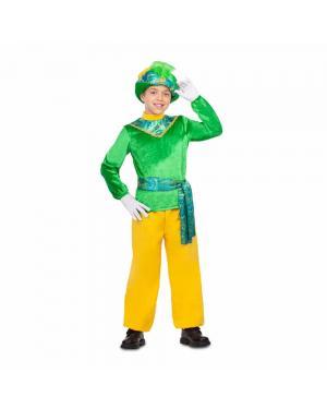 Fato Pajem Verde Criança para Carnaval