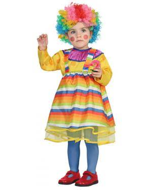 Fato Palhaça Colorida Bebé de 6-12 meses Disfarces A Casa do Carnaval.pt
