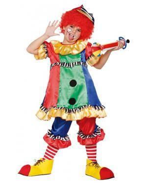Fato Palhaça Cores Menina Disfarces A Casa do Carnaval.pt