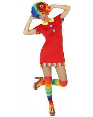 Fato Palhaça Curta Mulher Adulto XS/S Disfarces A Casa do Carnaval.pt