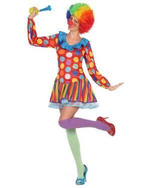 Fato Palhaça Mulher Adulto M/L Disfarces A Casa do Carnaval.pt