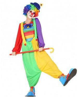 Fato Palhaça Multicolor Adulto para Carnaval