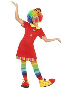 Fato Palhaça Vermelho Menina de 5-6 anos Disfarces A Casa do Carnaval.pt