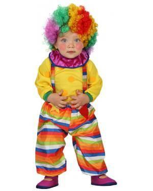 Fato Palhaço Arco-íris Bebé Disfarces A Casa do Carnaval.pt