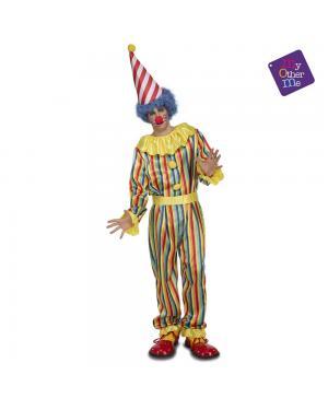 Fato Palhaço às Riscas M/L para Carnaval
