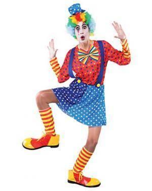 Fato Palhaço Azul Mulher Adulto Disfarces A Casa do Carnaval.pt