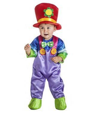 Fato Palhaço Colorido 1-2 Anos para Carnaval