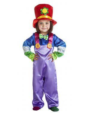Fato Palhaço Colorido 5-6 Anos Disfarces A Casa do Carnaval.pt