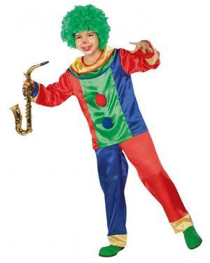 Fato Palhaço Colorido Menino Disfarces A Casa do Carnaval.pt