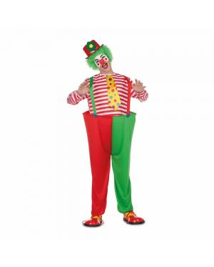 Fato Palhaço Divertido M/L para Carnaval