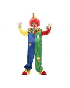 Fato Palhaço Divertido Multicolor para Carnaval