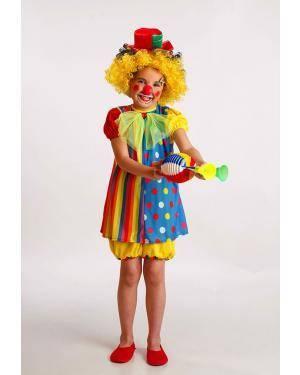 Fato Palhaço Menina T. 3 a 5 Anos Disfarces A Casa do Carnaval.pt